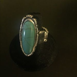 Silver ring w/ turquoise stone